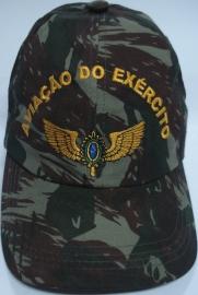 Boné Aviação do Exército Bordado Camuflado
