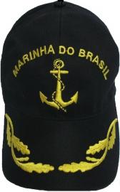 Boné Marinha do Brasil Bordado Preto
