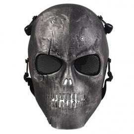 Máscara Caveira Preta Cromo Full
